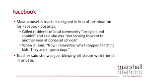 Resigned In Lieu Of Termination Staff And Use Of Social Media Ppt Download