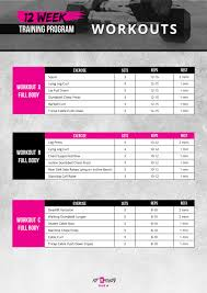 Gym Workout Chart 12 Week Gym Workout Plan