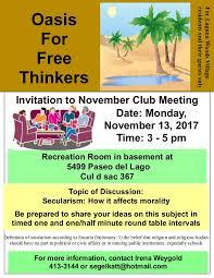 october club meeting