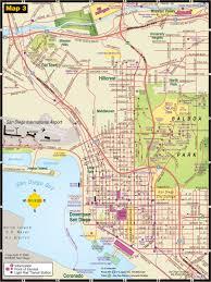 central san diego tourist map  san diego • mappery