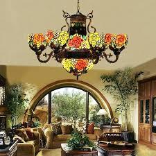 bedroom chandeliers chandeliers stained glass lights fixtures pendant lamp for bedroom rose flower lights 6 heads bedroom chandeliers