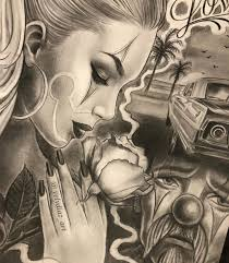 Pin By Pedro On Comics Art Chicano Drawings Chicano Style Tattoo