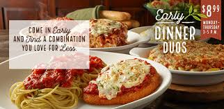 deals at olive garden. Early Dinner Duos \u2013 Come In And Find A Combination You Love For Less. Deals At Olive Garden T