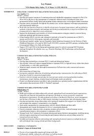 Community Relations Resume Community Relations Manager Resume Samples Velvet Jobs 4