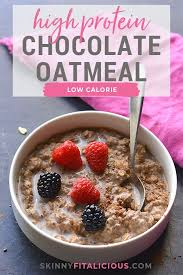 Sure, instant oats are convenient, but rolled or steel cut are the least processed, says eliza savage, rd. High Protein Chocolate Oatmeal Gf Low Calorie Skinny Fitalicious