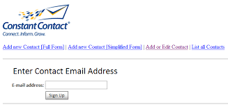 constant contact signup form sample upload forms in net getting started with constant