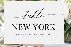 Table Number Design Printable Table Numbers Wedding Table Number Printable