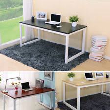 wooden office desk. New Home Office Desk Corner Computer PC Writing Table WorkStation Wooden \u0026 Metal