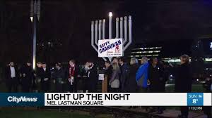 first day of hanukkah marked in mel lastman square