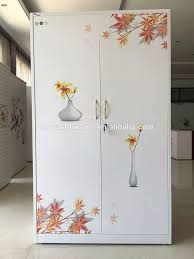 Printed Wardrobe Designs New Model Customized Bedroom Wardrobe Design White And Flower Printing Kd Structure Godrej Steel Almirah Buy Indian Bedroom Wardrobe Designs Bedroom