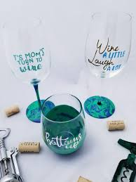 diy personalized wine glasses with marbling paint leap of faith crafting