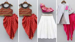 Crop Top Design Pattern Kids Crop Top Lehenge Design Ideas Traditional Outfits Ideas For Girls Indo Western Outfits For Girl
