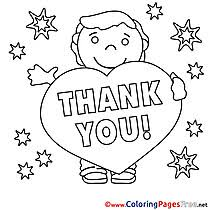 Thank You Coloring Pages Saying Page Free Printable P