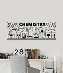 vinyl wall decal chemistry words