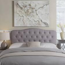 upholstered headboard queen. Bedroom : Upholstered Headboard And Frame Grey King Queen