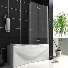 aica 180 pivot 2 fold folding hinge shower bath screen 6mm easyclean glass