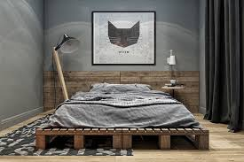 masculine bedroom a cat face wall picture