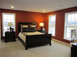 warm brown fabric queen size bed_gray fabric end bed_white pattern curtain_wall wooden shelves_brown cream wall_bedside lighting design ideas 728x546jpg brown fabric lighting