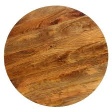 go 120cm round solid mango wood timber dining table in distressed mango teak with pedestal base