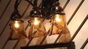 Glass Vanity Light Uttermost Vitalia 22860 Amber Glass Vanity Light