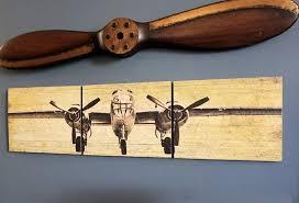 image of vintage airplane propeller decor