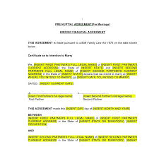 Sample Prenup Prenuptial Agreement Law4us Agreement Template