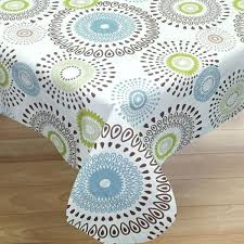flannel backed vinyl tablecloth contemporary whimsical print back or 70 inch round