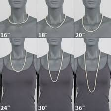 Chain Length Chart Inches Necklace Size Chart
