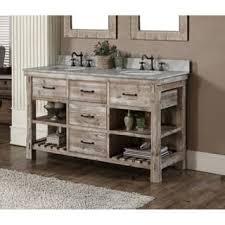 rustic bathroom double vanity. Modren Rustic Rustic Style 60inch Double Sink Bathroom Vanity Inside R
