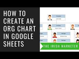 How To Create An Org Structure Chart In Google Sheets Free