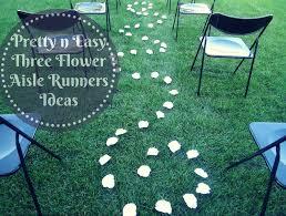 pretty n easy s 3 flower aisle runner ideas