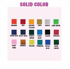 Color Chart For Text Edia Ink