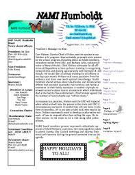 Fillable Online Nami Humboldt Newsletter Template Winter