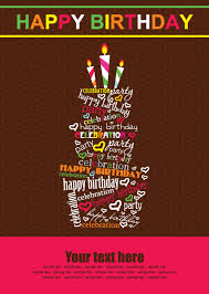Birthday Greetings Download Free Unique Vector Set Of Happy Birthday Cake Card Material 48 Free Download