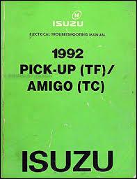 1992 isuzu pickup amigo electrical troubleshooting manual original