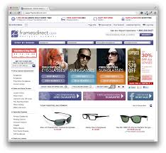 looking at framesdirect the largest retailer for name brand frames