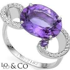 new captivating lolo co 4 85 carat tw eclipse amethyst genuine diamond platinum over 0 925