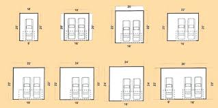dimension of two car garage two car garage door size size of two car garage door
