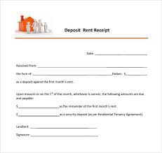 8 Deposit Receipt Templates Free Samples Examples Format