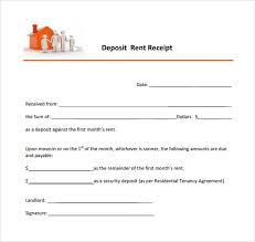 8 Deposit Receipt Templates Free Samples Examples Format