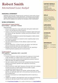 lease abstract template lease analyst resume samples qwikresume