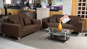 brown bella fabric sofa set from