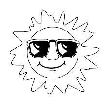 Small Picture Sun Coloring Pages