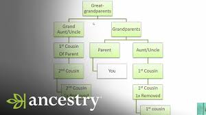 Second Cousin Twice Removed Chart What Is A First Cousin Once Removed Ancestry