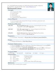 mechanical sample resume engineers resume format free excel templates