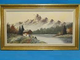 Make your own paint muller and slab. Early Mid Century Swiss Alps Impressionist Oil Painting By Muller 30 X 15 Ebay