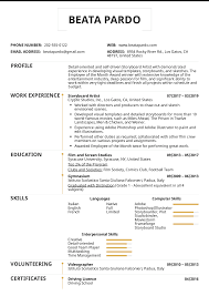 Resume Examples By Real People Storyboard Artist Resume Sample