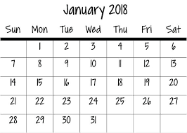 Mini Calendar Template