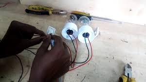 how to connect one way switch two lamp control by two switch