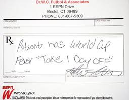 How Can I Get A Doctors Note 5 World Cup Doctors Notes